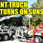 Cement-Truck-Overturns-On-Sunset