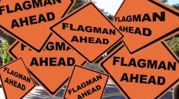 Archer's Flagmen Will Stop Sunset Traffic