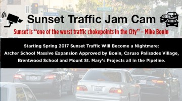 Sunset Coalition announces the Sunset Traffic Jam Cam